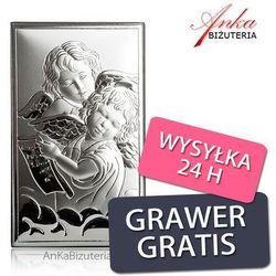 Obrazek srebrny Aniołki Pamiątka dla dziecka .GRAWER GRATIS z kategorii Dewocjonalia