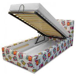 Łóżko z pojemnikiem na pościel dinks 90x200 - 45 kolorów marki Producent: elior
