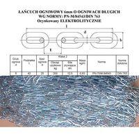 ŁAŃCUCH 6x42 ogniwa długie OCYNK elektrolit DIN763