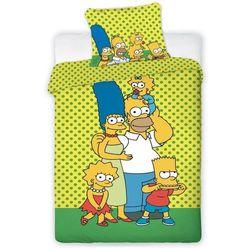 Jerry fabrics  dziecięca pościel bawełniana the simpsons yellow, 140 x 200 cm, 70 x 90 cm