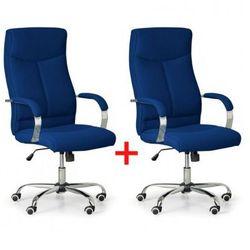 Krzesło biurowe Lugo Tex 1+1 GRATIS, niebieski