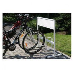 Jednostronny stojak na rowery z powierzchnią na reklamę - sprawdź w wybranym sklepie