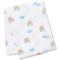kocyk muślinowy rainbow sky marki Lulujo
