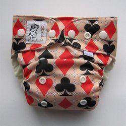 Wielorazowa pieluszka pul z kieszonką (3-16kg) karty,  wyprodukowany przez Babyetta
