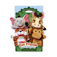 Pacynki na rękę zoo komplet 4 szt.,  marki Melissa & doug