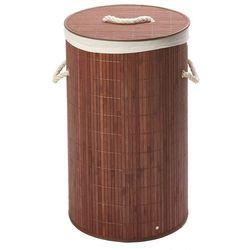 Okrągły bambusowy kosz na pranie (9001466730839)