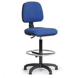 Podwyższone krzesło biurowe MILANO z podnóżkiem - niebieske