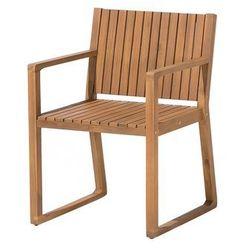 Beliani Krzesło ogrodowe drewniane sassari (4260586356502)