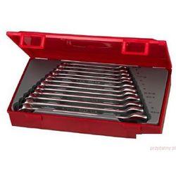 TENGTOOLS Zestaw 12 kluczy płasko-oczkowych ze stali chromowo-wanadowej T1236 (27560101)