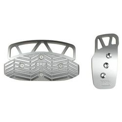 Nakładki pedałów OMP OA/1068/A automat srebrne - produkt z kategorii- Nakładki na pedały