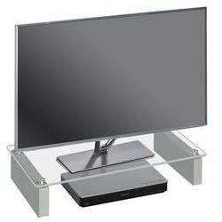 Stolik pod telewizor, 60 cm, przezroczysty, szkło, 16069900