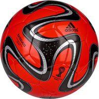 Piłka nożna adidas Brazuca glider czerwono-czarna F93285
