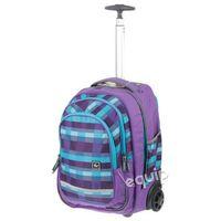 Plecak na kółkach  all out bolton - summer check purple marki Hama