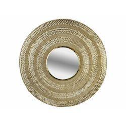 Okrągłe lustro z imitacji mosiądzu art déco UXMAL - żelazo - śred. 102cm - Złote