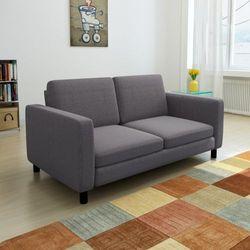 vidaXL Kanapa sofa 2 osobowa ciemnoszara z kategorii Sofy