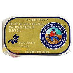 Portugalskie filety z makreli w oliwie z oliwek 125g, marki Pinhais