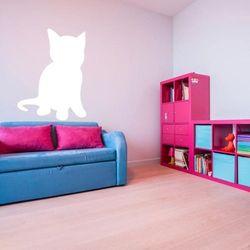 Wally - piękno dekoracji Tablica suchościeralna kotek 193