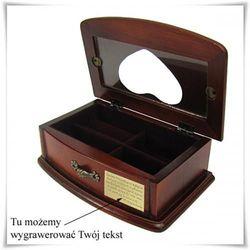Szkatułka na biżuterię z możliwością grawerowania dedykacji, życzeń... - produkt z kategorii- Na parap
