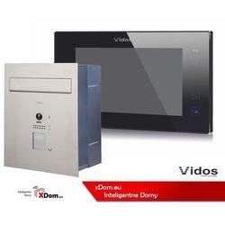 Zestaw cyfrowy s1201-skp skrzynka na listy z wideodomofonem i czytnikiem kart, m1021b monitor 7'' wideodomofonu marki Vidos