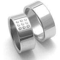 Obrączki ślubne z stali nierdzewnej ZERO Collection rz08001+rz08000 ()
