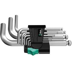 Wera Zestaw kluczy imbusowych 9 szt. 950 pks/9 sm n wewnętrzny sześciokąt 05133163001 (4013288112255)