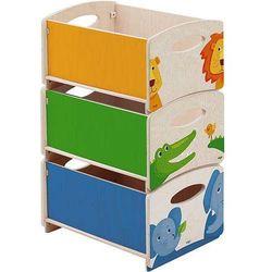 Pojemniki na zabawki Zoo, 3 szt. z kategorii Pozostałe dla dzieci