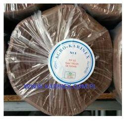 Agrowółknina ściółkujaca PP 50 g/m2 brązowa 1,6 x 100 mb. BEZ UV. Rolka o wadze 8,6 kg. - sprawdź w wyb