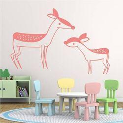 Wally - piękno dekoracji Naklejka na ścianę dla dzieci sarenki 2548