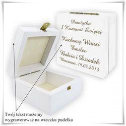 Drewniana szkatułka prezentowa (biała) 11cm x 11 cm x 6cm z możliwością grawerowania - sprawdź w wybrany