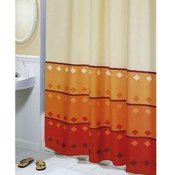 Bellatex zasłona prysznicowa geometria pomarańczowy, 180 x 200 cm