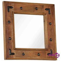 Vidaxl lustro z ramą z litego drewna akacjowego, 50 x 50 cm