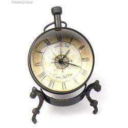 Mosiężny zegar stojący biurkowy Retro