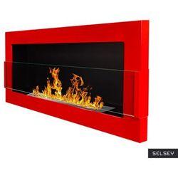 Selsey biokominek astralis 90x40 cm z certyfikatem tÜv czerwony połysk marki Globmetal