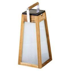 Les jardins Tinka tecka-latarnia zewnętrzna led akumulatorowa & solarna drewno wys.39cm