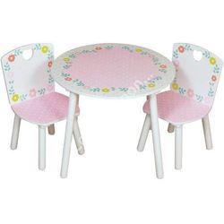 komplet stolik i 2 krzesełka dla dziewczynki z serii country cottage marki Kidsaw