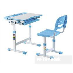 Cantare Blue - Ergonomiczne, regulowane biurko dziecięce + krzesełko FunDesk - ZŁAP RABAT: KOD30, FD-CA