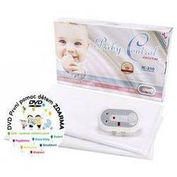 Baby control Monitor oddechu  bc-210, dwie jednostki sterujące biała