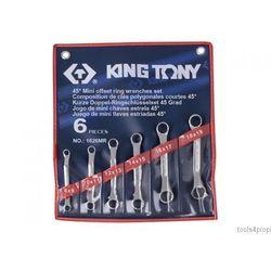 ZESTAW KLUCZY OCZKOWYCH ODGIĘTYCH 45° MINI 6cz. 8 - 19mm King Tony 1626MR