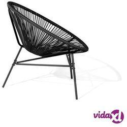 Zestaw 2 krzeseł ogrodowych czarne acapulco marki Beliani