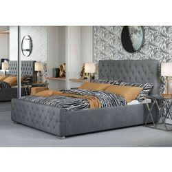 Łóżko tapicerowane do sypialni 180x200 2230g popiel welur kryształki marki Meblemwm