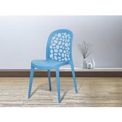 Krzesło ogrodowe niebieskie - krzesło plastikowe - RUBIN (7081453166287)