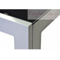 Aluminiowy stół ogrodowy ze szklaną płytą czarny 150 cm, kup u jednego z partnerów
