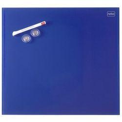 Tablica szklana Nobo Diamond 45x45, niebieska, 5164
