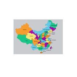 Foto naklejka samoprzylepna 100 x 100 cm - Bardzo szczegółowe Mapa polityczna Chin, produkt marki fotako