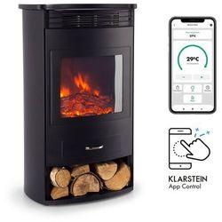 bormio smart, kominek elektryczny, 950/1900 w, termostat, timer tygodniowy, czarny marki Klarstein