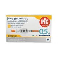 Strzykawki insulinowe insumed 0,5ml g31x8mm (30szt.) marki Astrana s.p. a.