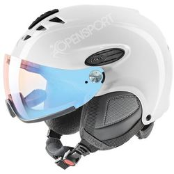 Uvex Kask narciarski  hlmt 300 visor variomatic fotochrom white m, kategoria: kaski i gogle