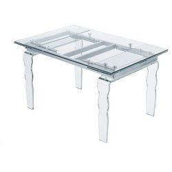 King home Stół szklany vendome opti white biały - 200/300
