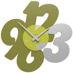Zegar ścienny Transparencies CalleaDesign oliwkowo-zielony, kolor zielony