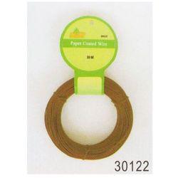Drut w papierowej otulinie brązowy 50m (30122)